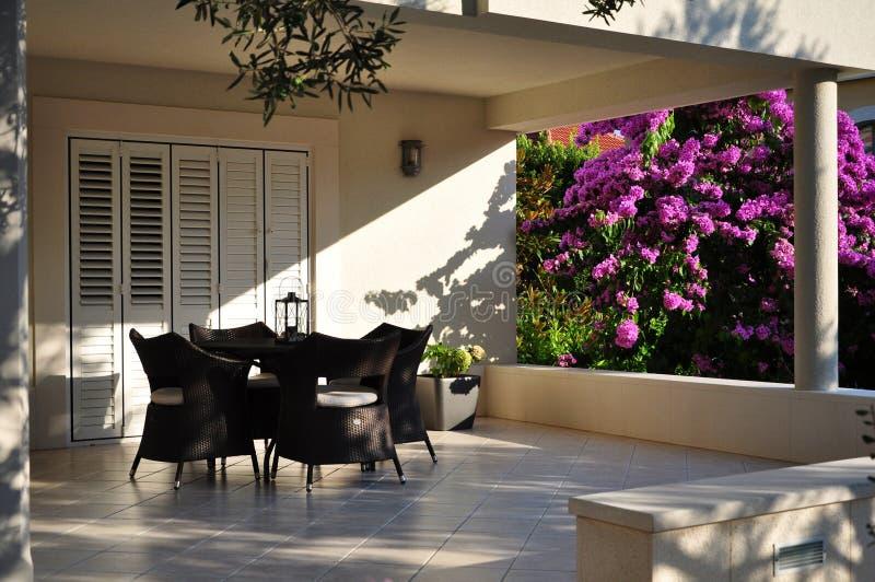 Download Terrace stock image. Image of croatia, holiday, bloomy - 26159023
