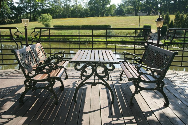 Download On terrace stock image. Image of terrace, benches, resting - 2697711