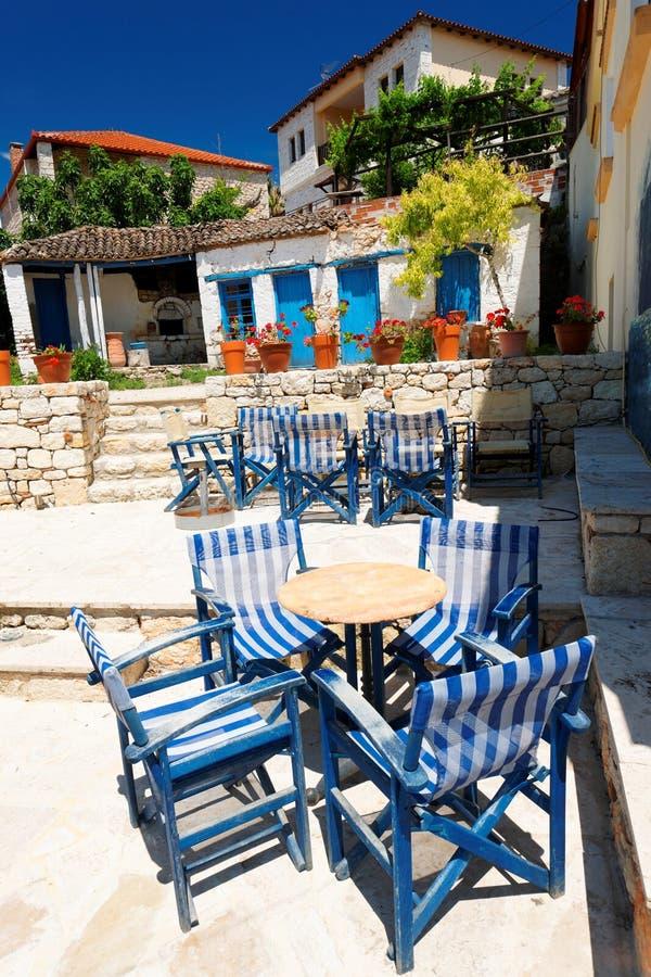 Terrace in Aphitos stock photos