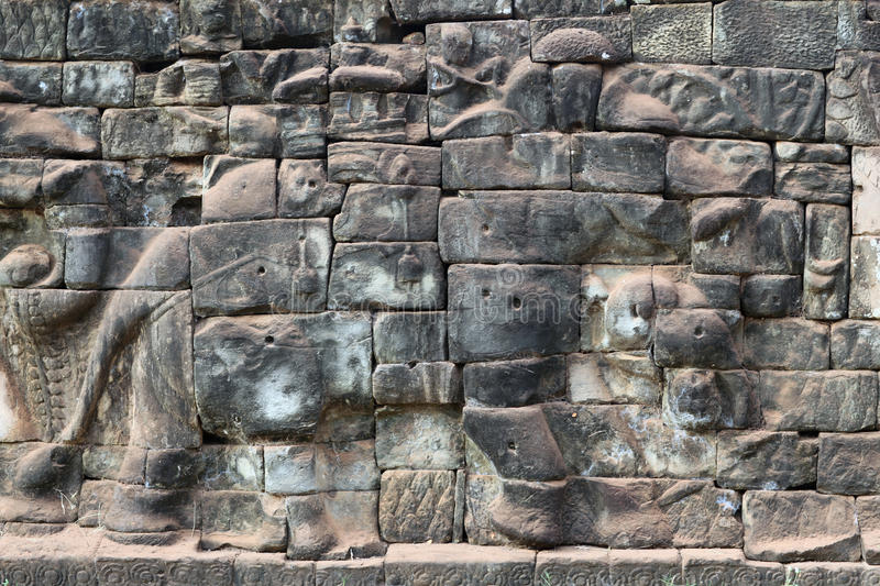 Terrace of the Elephants in Angkor Thom, Cambodia stock images