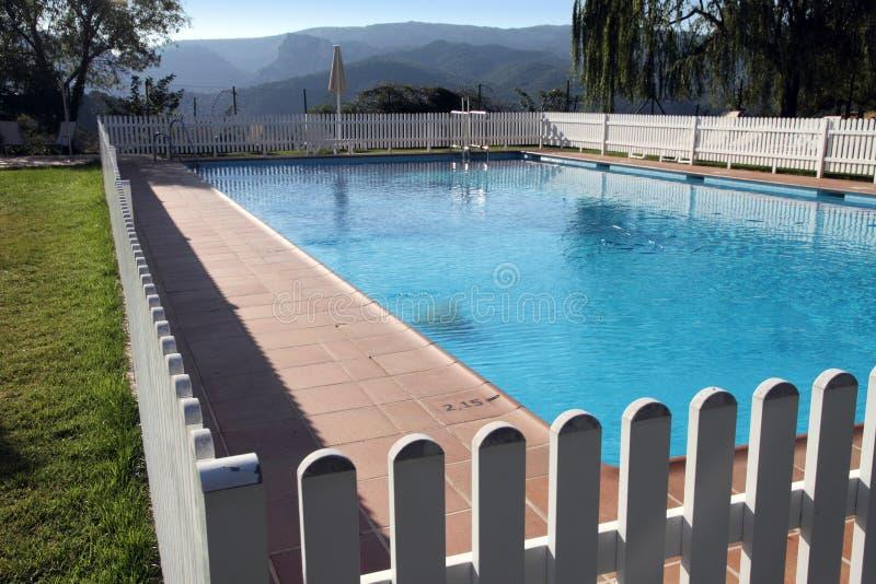 Terrace and garden State run hotel in Cazorla Spain. Swimming pool,Terrace and garden Cazorla state run hotel,Jaen,Spain royalty free stock photos