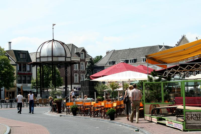 Terrace on the historic maket place royalty free stock images