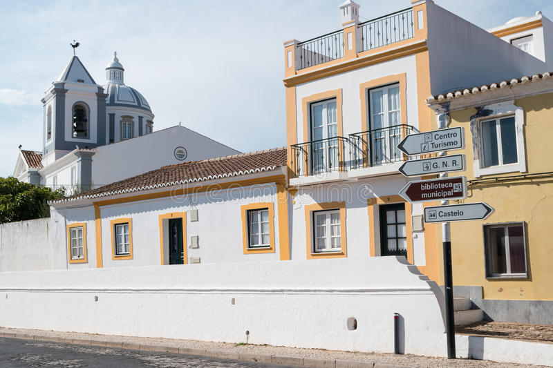 Terrace houses. In Castro Marim, Portugal stock photography