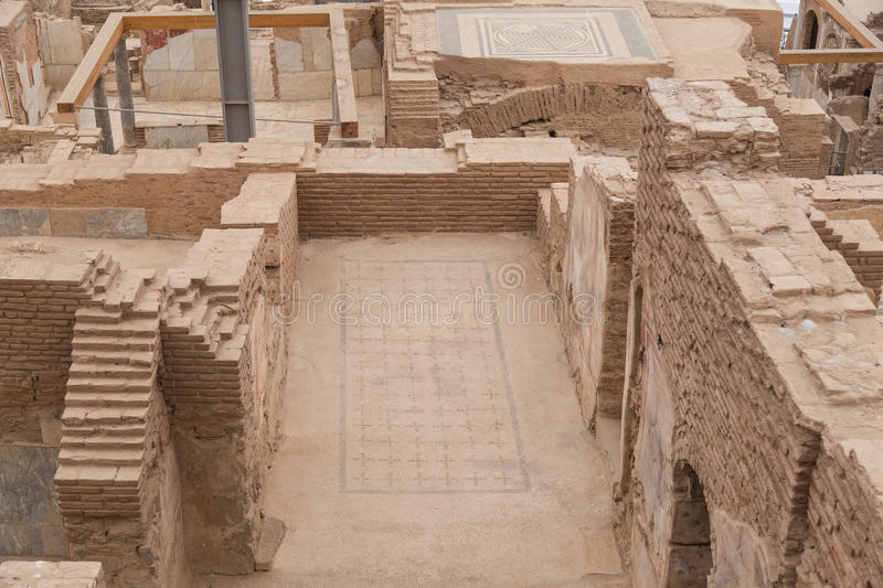 Terrace Houses in Ephesus Ancient City. In Izmir, Turkey royalty free stock images