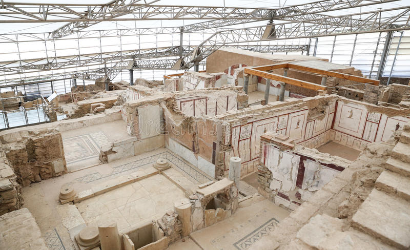 Terrace Houses in Ephesus Ancient City. Izmir, Turkey royalty free stock photo