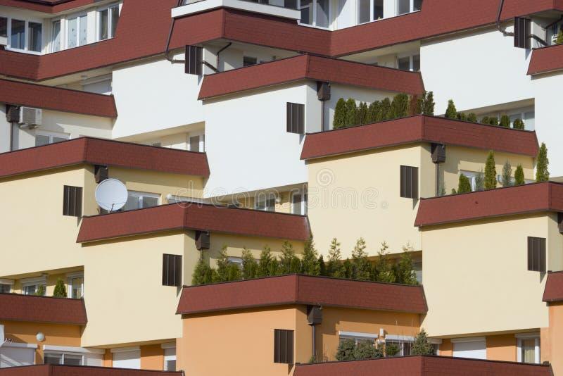 Terrace housin in bratislava stock photos