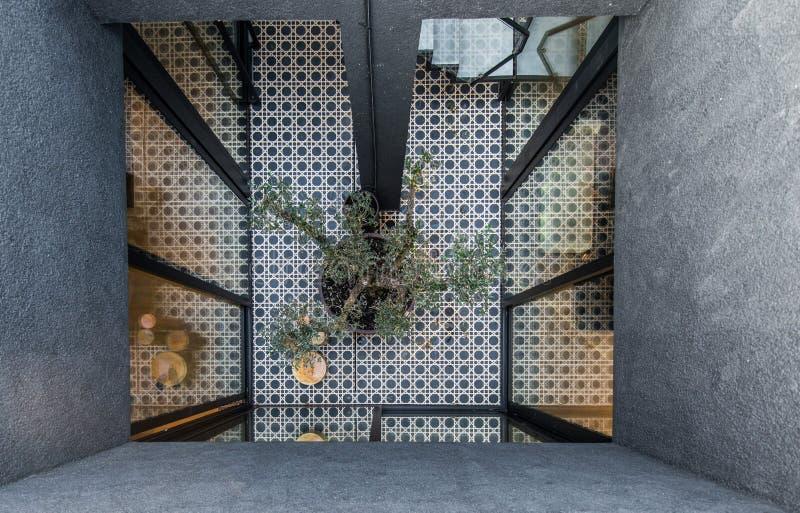Terrace interior in luxury apartment stock photo