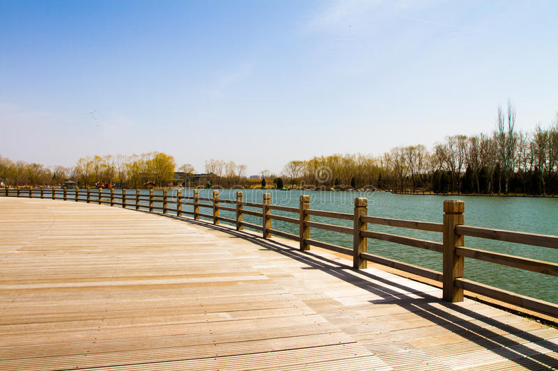 terrace on the lake royalty free stock image