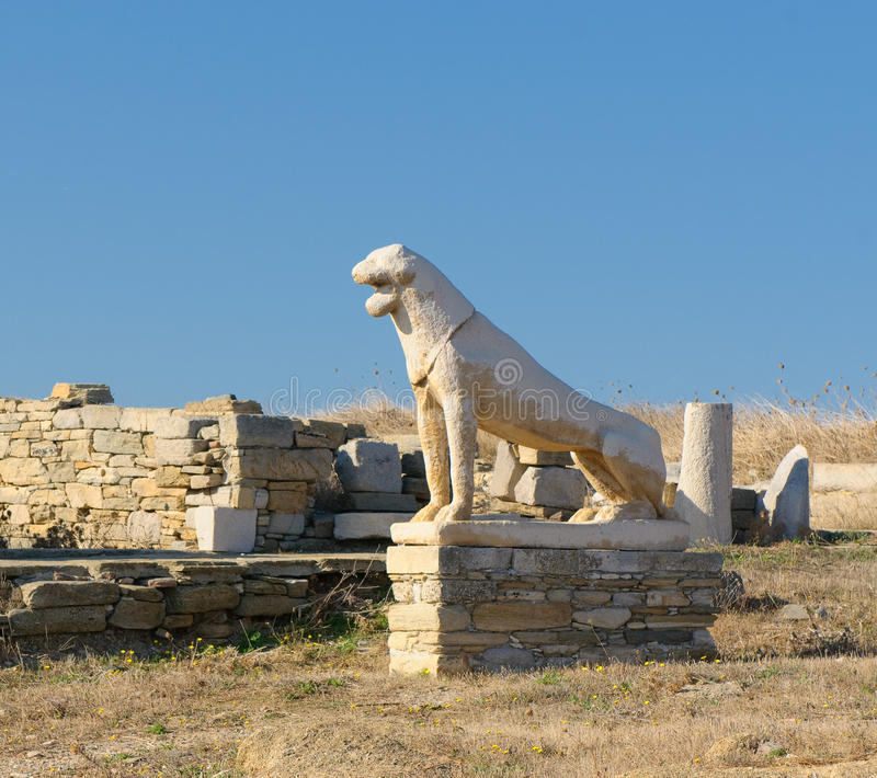 Download The Terrace Of The Lions, Delos Island, Greece Stock Photo - Image: 12790750
