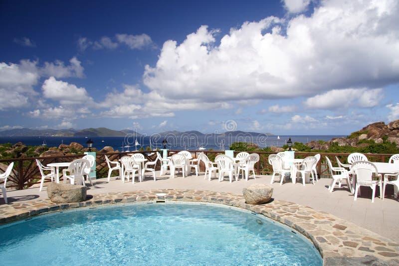 Terrace in paradise royalty free stock photos