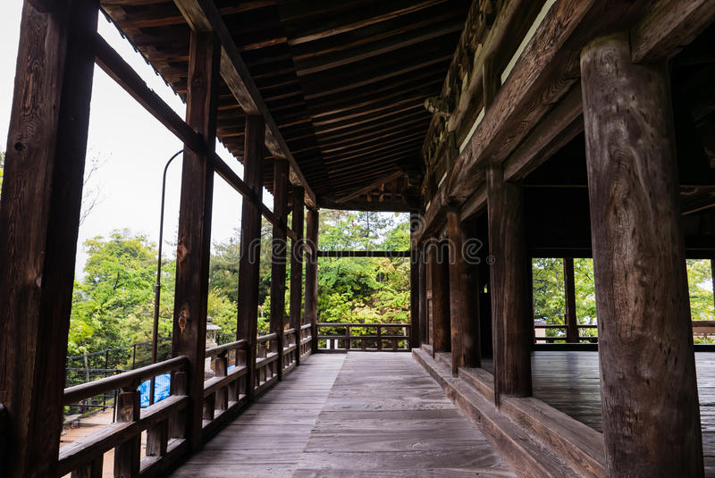 Terrace of Senjokaku & x28;Toyokuni Shrine& x29; on Miyajima Island stock photo