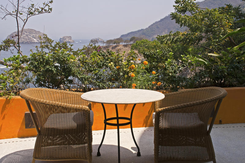 Download Terrace Setting In The Tropics Stock Photo - Image: 18928130