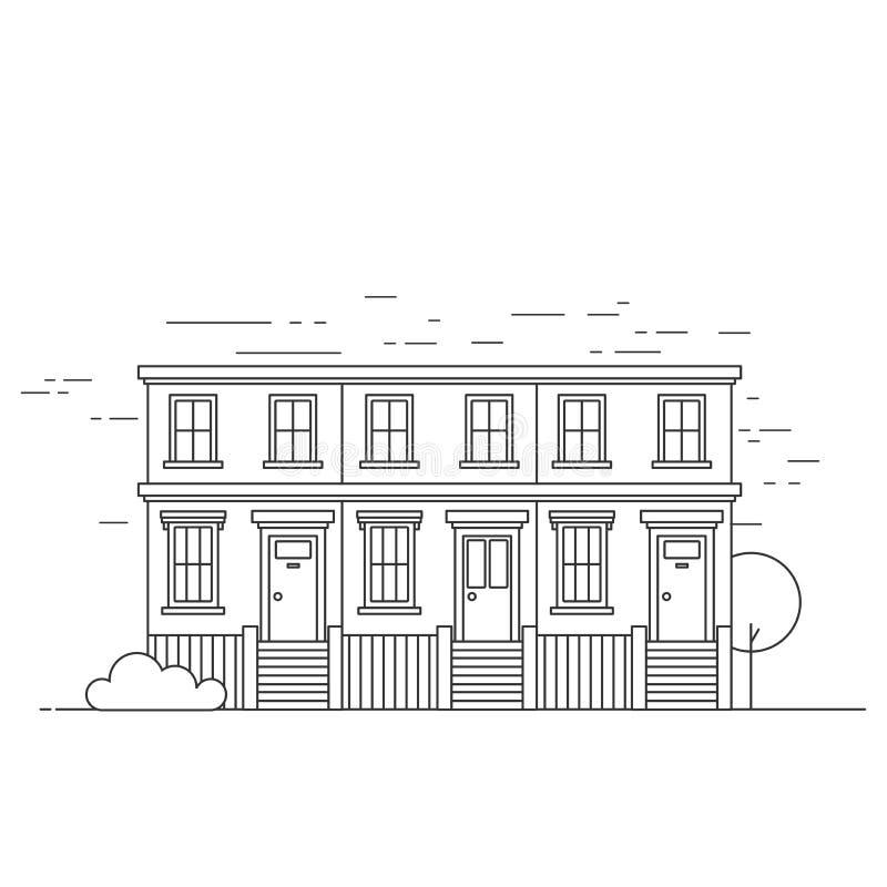 Terraced Νότινγκ Χιλ δημαρχείων περιλήψεων στο Λονδίνο Ορόσημο ταξιδιού της Αγγλίας Επίσκεψη Ηνωμένης αρχιτεκτονικής ελεύθερη απεικόνιση δικαιώματος