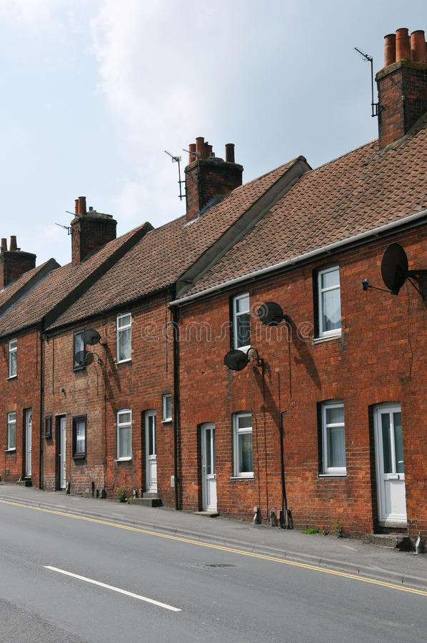 Terraced τούβλινα σπίτια στοκ φωτογραφία