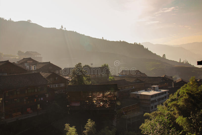 Terraced Fields at Longshen royalty free stock photography