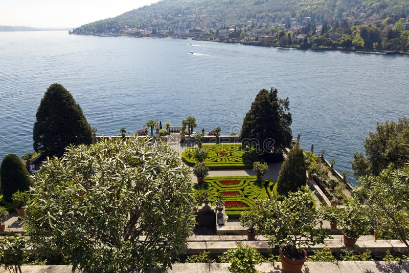 The terraced gardens of Isola Bella royalty free stock photography