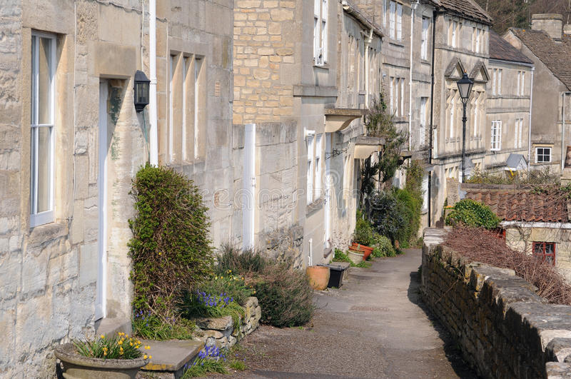 Download Terraced Houses And Pathway Stock Image - Image of flowers, european: 25220229