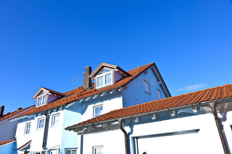 Terraced houses in suburbia stock photography