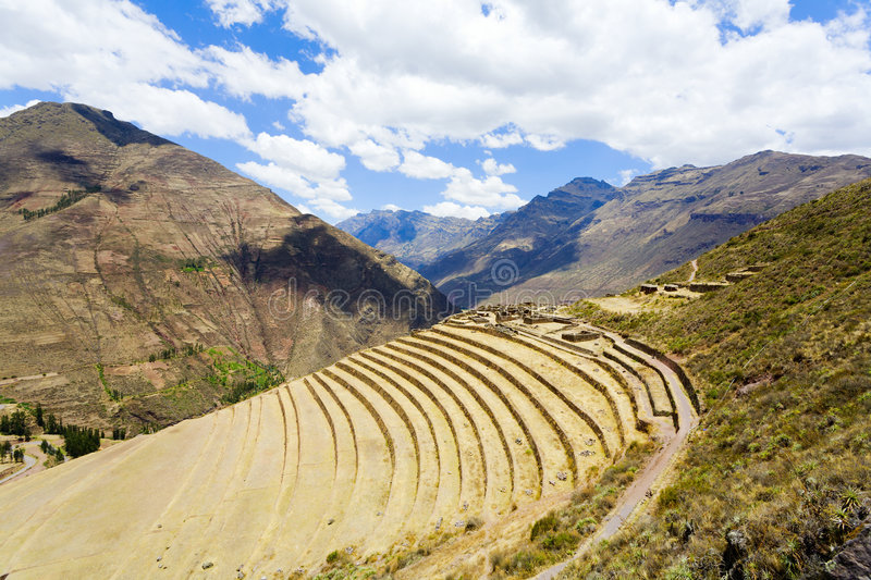 Download Terraces at Pisac ruins stock image. Image of sightseeing - 7550473