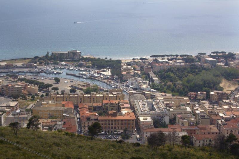 Terracina, Lazio, Itália de Saint Angelo da montagem imagem de stock royalty free