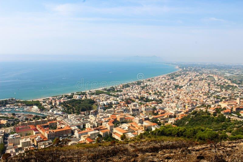 Terracina. On the Roman coast is the town of Terracina stock photo