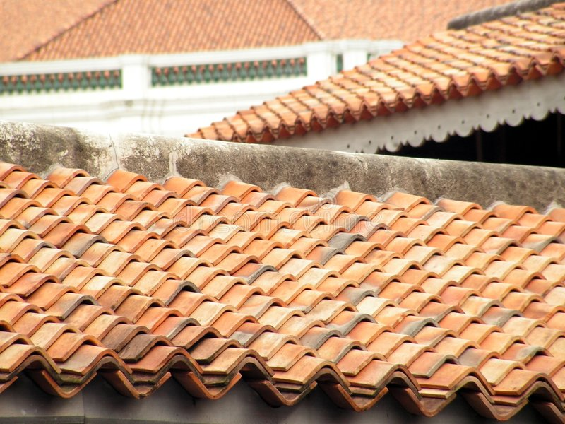 Download Terracota στεγών στοκ εικόνα. εικόνα από roofing, χρώμα - 1549109