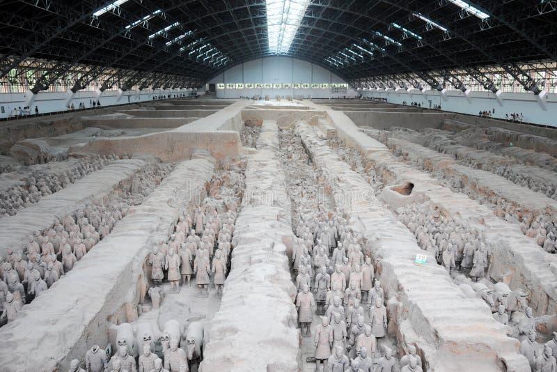 Terracotta Army. China landmark Terracotta Army located Xian stock photography
