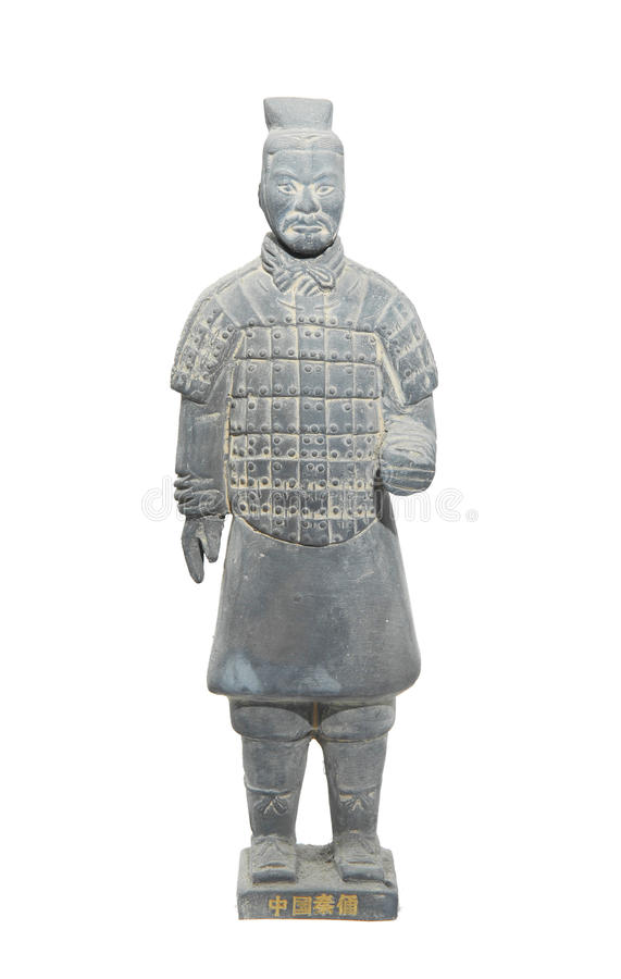 Terracotta army. Figure in china royalty free stock image