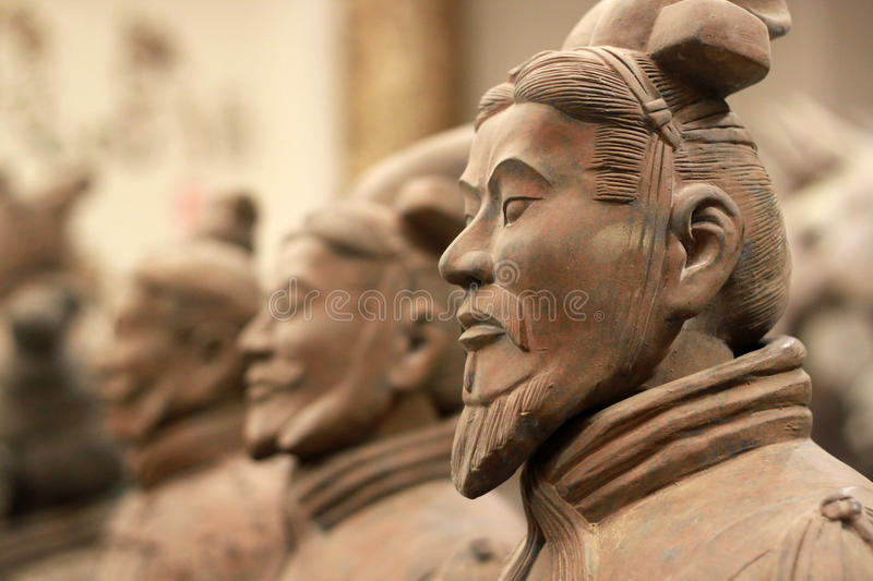 Terracotta army. The UNESCO heritage site of XIAN, terracotta army warriors stock photo
