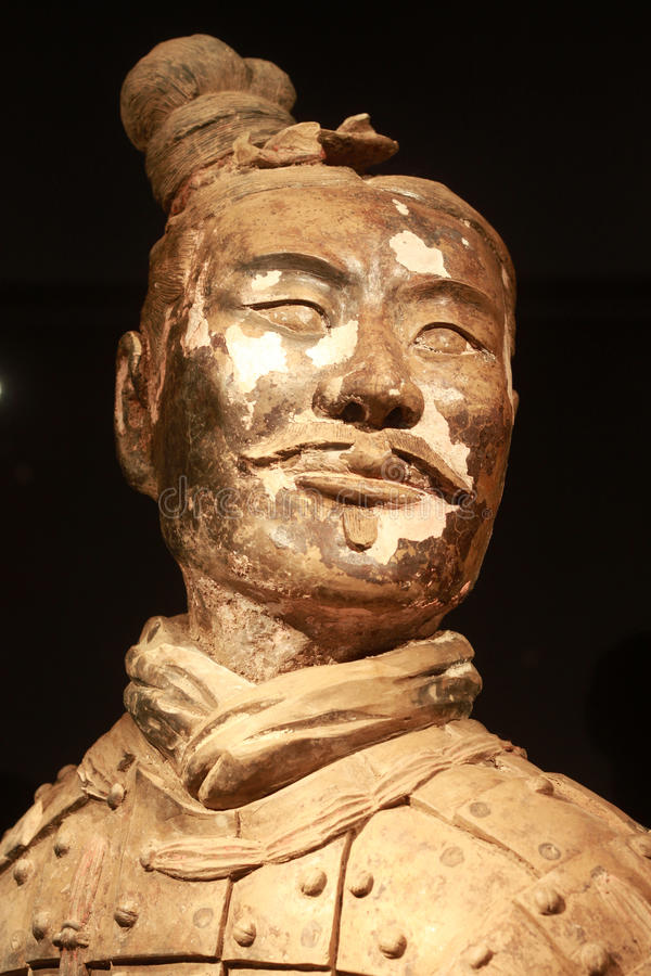 Terracotta army. The UNESCO heritage site of XIAN, terracotta army warriors stock images