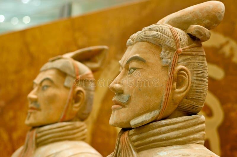 Terracotta army. Warriors of terracotta army, China stock photo