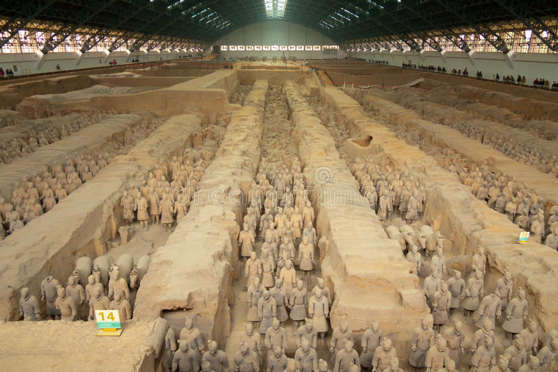 Terracotta army. Qin dynasty Terracotta Army, Xi'an, China royalty free stock image