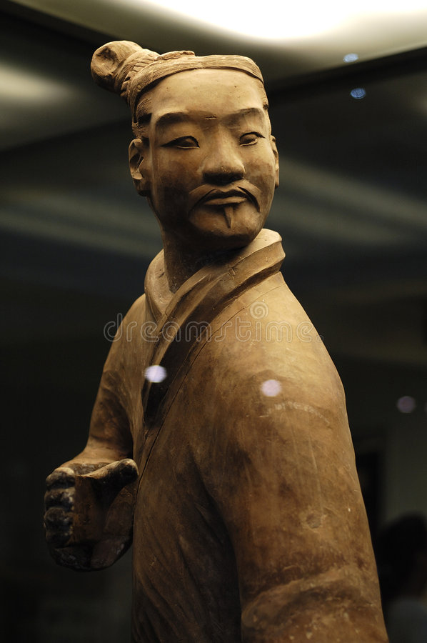 The Terracotta Army. Terra-cotta Warriors (Chinese: 兵马俑)and Horses is a collection of 8,099 life-size terra cotta figures of warriors and horses royalty free stock images