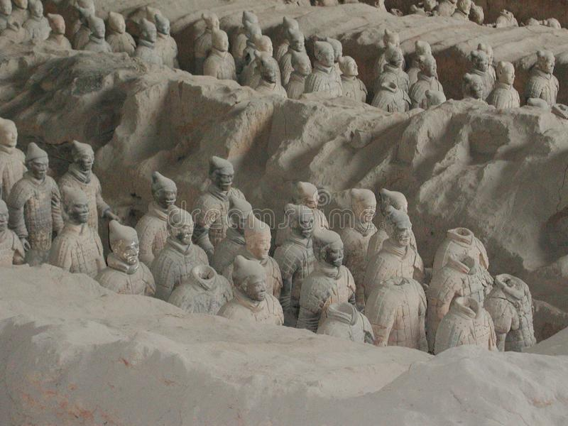 The Terracotta Army in China stock photos