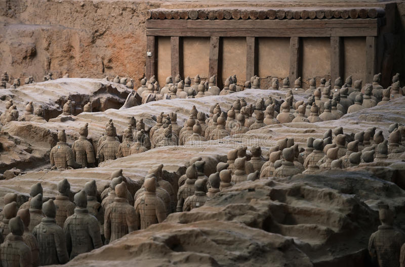 Terracotta Army, China royalty free stock images