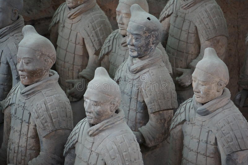 Terracotta Army. The Terracotta Army is a collection of terracotta sculptures depicting the armies of Qin Shi Huang, the first Emperor of China royalty free stock photography