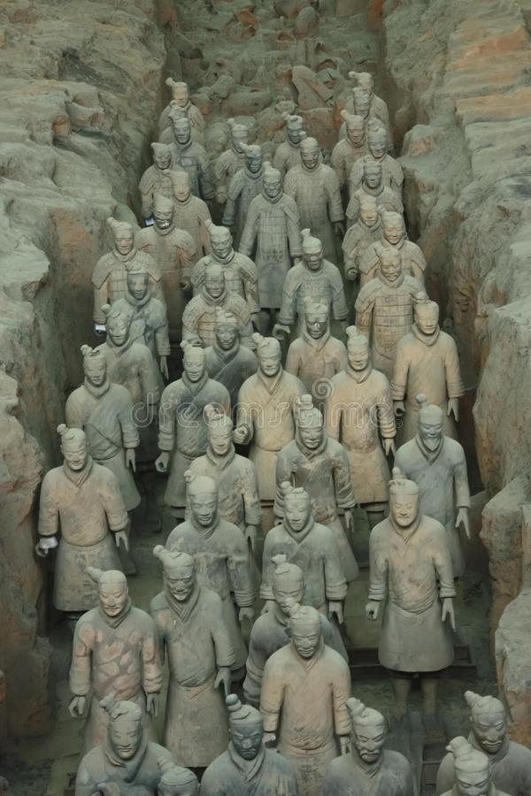 The terracotta army is a figure of ancient Chinese stock photography