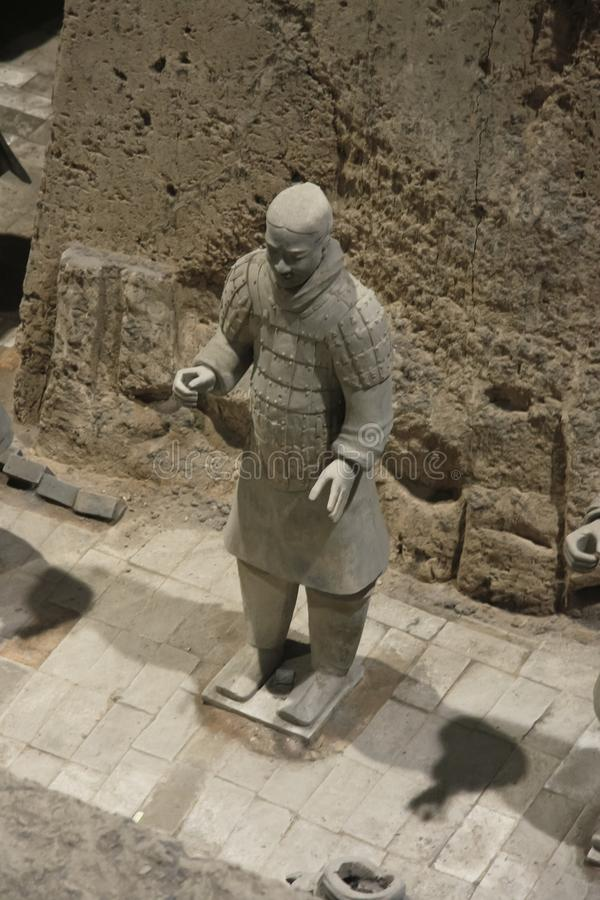 The terracotta army is a figure stock images