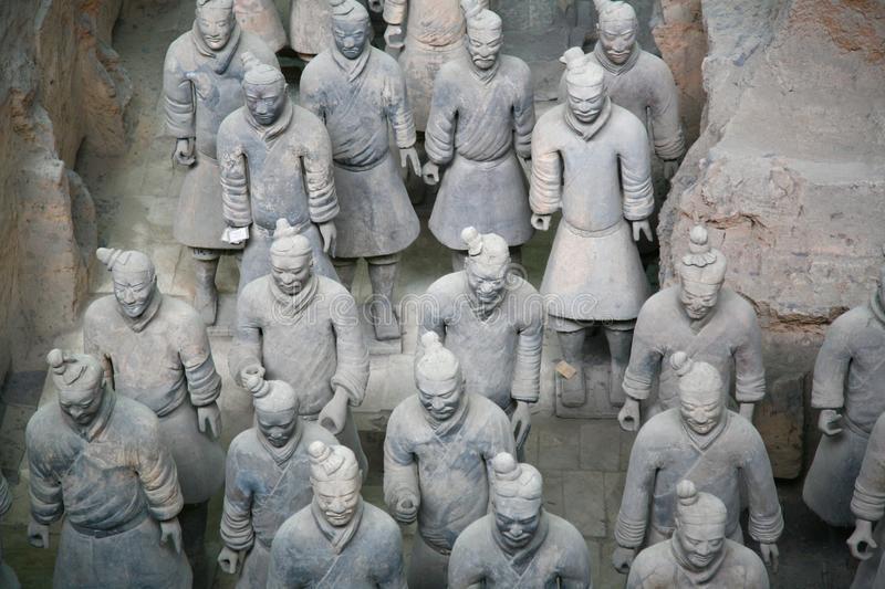 The Terracotta Army the first Emperor of China stock photo