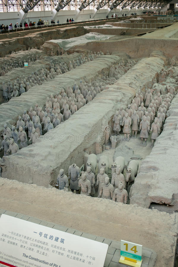 Terracotta Army Museum, Xi`an, China stock photo