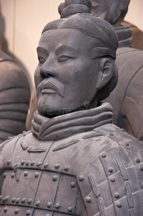 Terracotta Army Soldiers, Xian China, Closeup stock photography