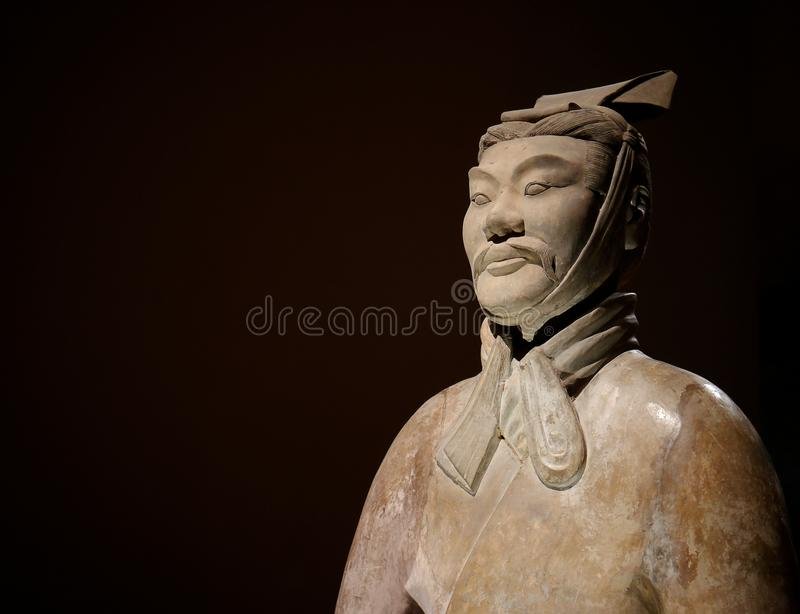 Terracotta Army Warrior. Of Qin Shi Huang, the first emperor of China between 259 BC to 210 BC stock photo