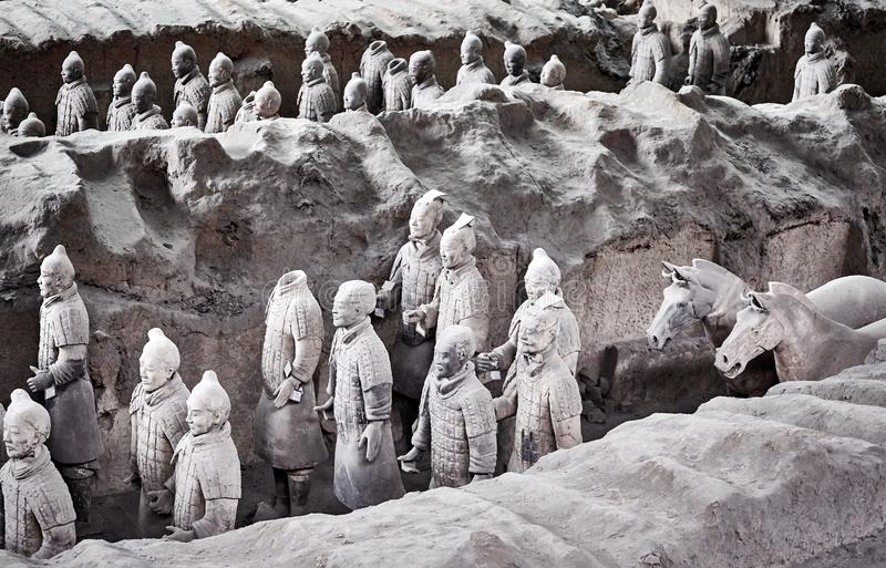 Terracotta Army warriors. stock image