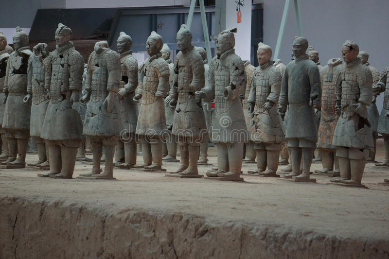 The Terracotta Army, Xian , China. The Terracotta Army Chinese: 兵马俑; literally: `Soldier-and-horse funerary statues` is a collection of stock images