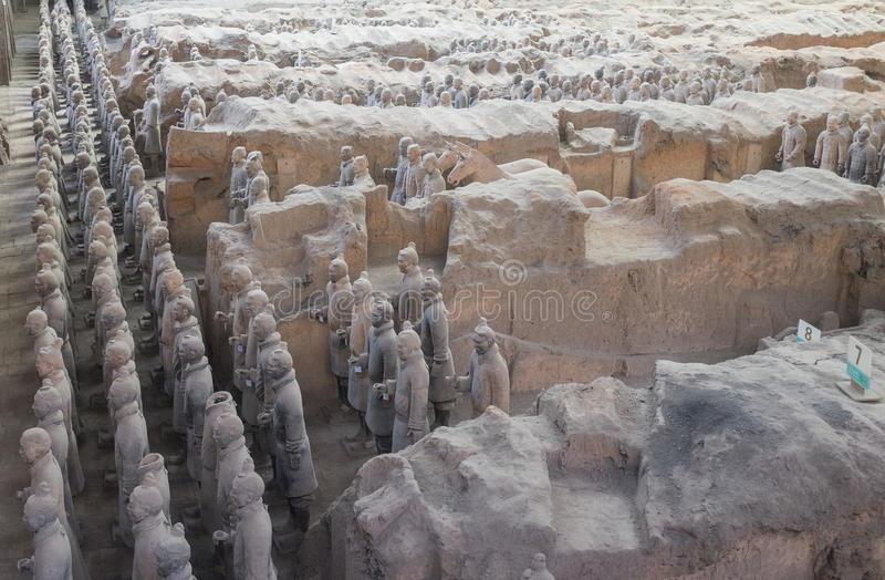 Download Terracotta Army In Xian, China Stock Image - Image of hostorical, figures: 41073883