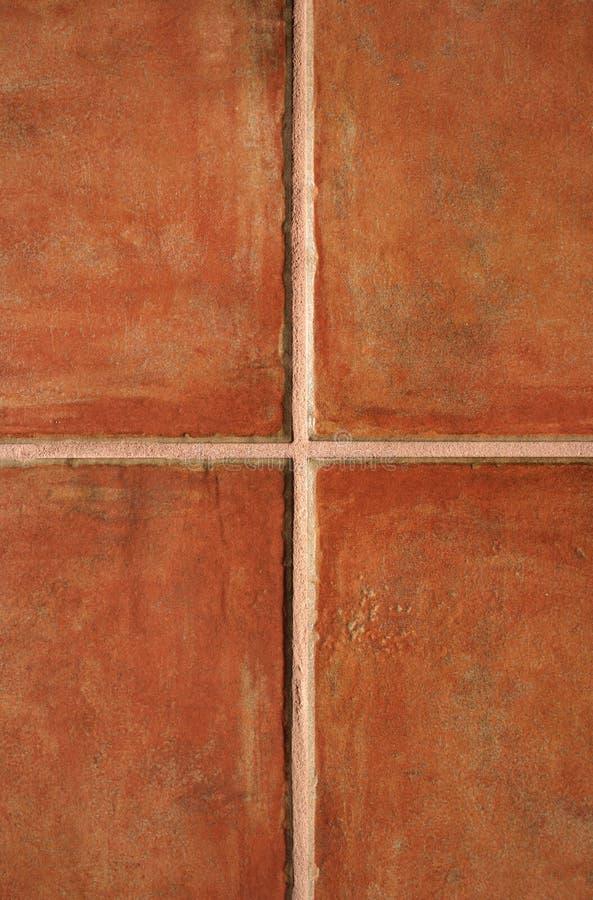 Terracotta ceramic tiles royalty free stock image