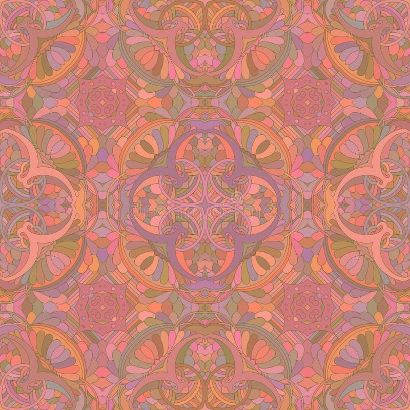 Terracotta decoratief naadloos patroon stock illustratie
