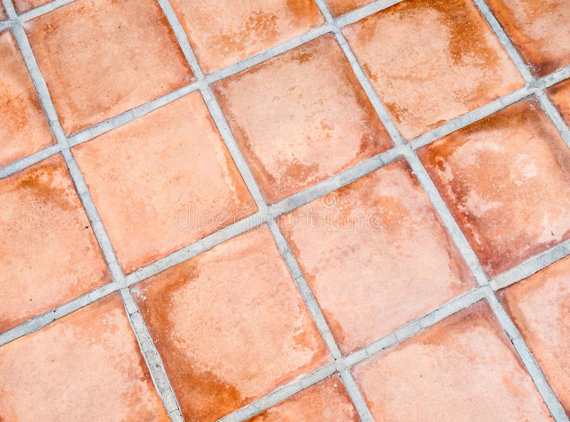 Terracotta flooring royalty free stock image