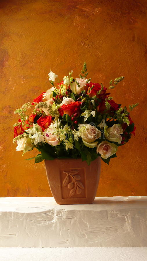 Download Terracotta Flowers stock image. Image of flowers, vase - 19012633