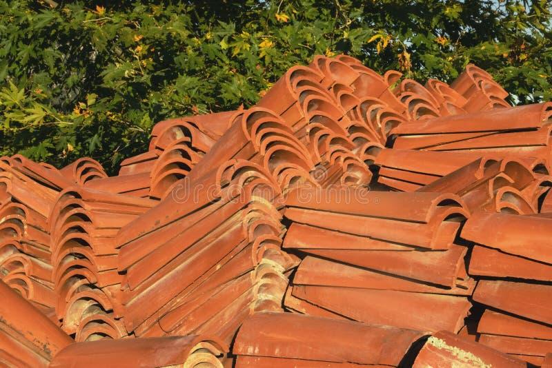 Terracotta orange tiles royalty free stock photography